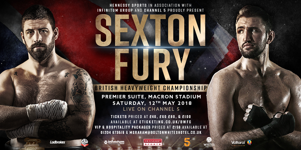 Image result for Sexton vs Hughie Fury Fight Live